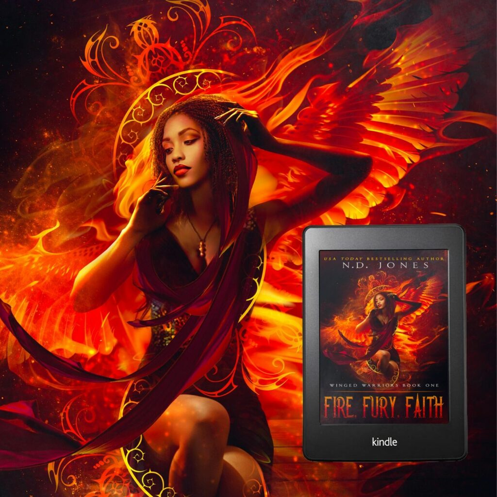 Fire Fury Faith African American Fantasy Romance by ND Jones