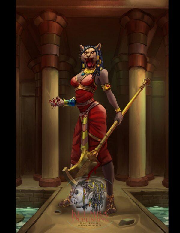 Sekhmet A Queen's Pride Concept Art by Black author ND Jones