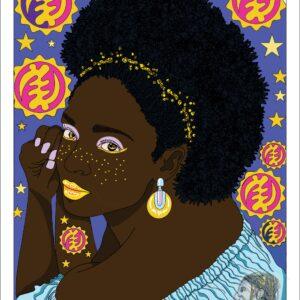 Beautiful Black Woman Afro Kuumba Publishing Poster Prints